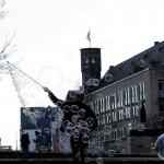 Seifenblasen in der Kölner Altstadt