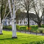 Mindener Straße mit Blick auf die Abtei Deutz