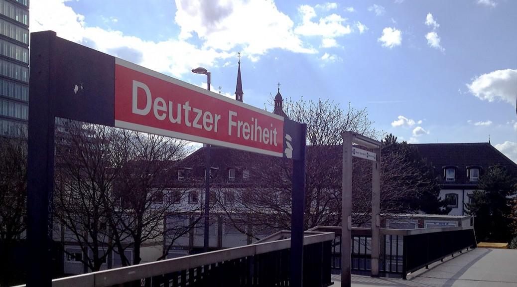 Deutzer Freiheit - Einkaufsstraße und Haltestelle