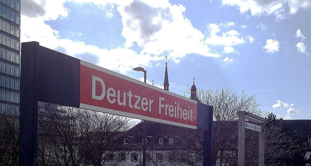 Deutzer Freiheit - Einkaufsstraße in der Nähe vom Hotel lbertz